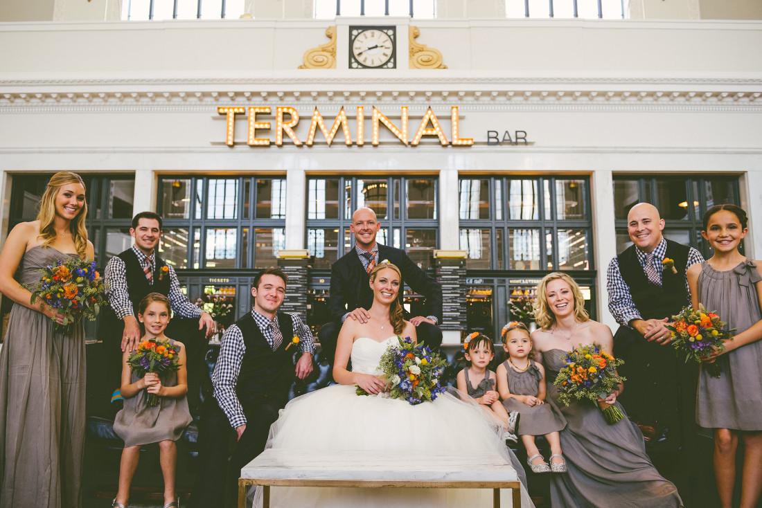 Union Station Terminal Bar wedding in Denver, Colorado
